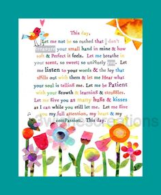 8 x 10 Whimsical Art Print My Child, This Day