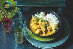 Kokosová korma s kuřecím masem Curry, Dinner Recipes, Food And Drink, Ethnic Recipes, Curries, Supper Recipes