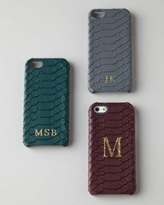 chic monogrammed iphone 5 leather cases
