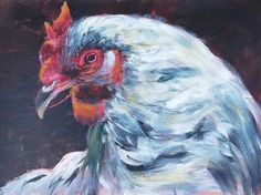 #hen #thehen #hennart #chicken #chickenart #birds #birdpainting #birdart #impressionistic #animalart @tomshepherdartist #animalartwork #contemporaryart Chicken Art, Canvas Paper, Hens, Bird Art, Impressionist, Lovers Art, Contemporary Art, Best Gifts, Handmade Items