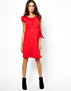 Image 4 ofASOS Maternity Exclusive Kate Dress With Belt And Scoop Neck