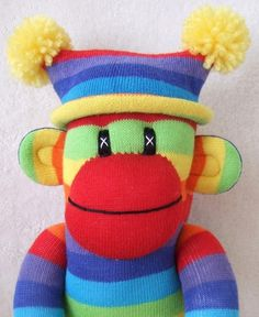 Colorful sock monkey