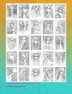 Bohemian Fantasy Grayscale Digital Coloring Book features 25 GRAYSCALE images for you to color featuring witches, vampires, and autumn fairies.  You will receive a PDF file containing all 25 images.  Does not include cover or back cover.  This is a large file so allow a few minutes for the download to finish.  Please see terms of use for digital files.