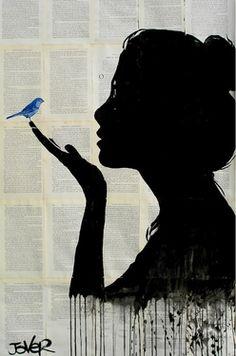 "Saatchi Online Artist Loui Jover; Drawing, ""harmony"" #art"