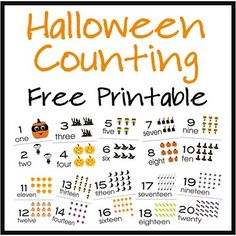 Halloween Counting Cards Printable from Over the Big Moon