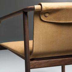 Oslo by Angell Wyller Aarseth for Bernhardt Design leather furniture details Furniture Decor, Furniture Design, Plywood Furniture, Luxury Furniture, Futuristic Furniture, Furniture Stores, Furniture Makeover, Vintage Furniture, Decoupage Furniture