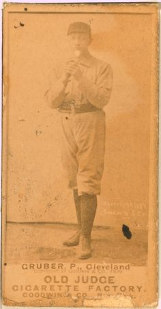 Henry Gruber 1889 Baseball Photos, Baseball Cards, Indians Baseball, Cleveland Indians, Baseball Players, Spiders, History, Sports, Cabinet