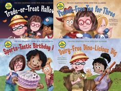 Great kids books about food allergies - LOVE these books!  Great for classroom education!