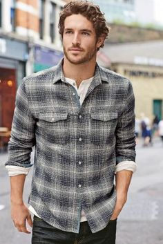 We LOVE the checked shirt trend and when it is paired with layering, you're definitely onto a winner!