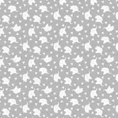 "Elephant Confetti Soft Cotton Flannel, 43"" By The Yard"
