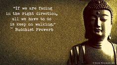 """If we are facing in the right direction all we have to do is keep on walking."" - proverb"