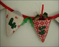 Make your own advent calender bunting