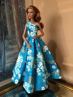 Alfred Shaheen Dress For Fashion Royalty Integrity Doll Silkstone Or Barbie Doll