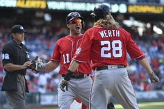 """Ryan Zimmerman celebrates his three-run, ninth-inning homer with Jayson Werth. (Derik Hamilton/AP) PHILADELPHIA — Ryan Zimmerman can say it now, in part because it is over, in part because he is now certain things can be better. """"I had a bad year last year,"""" Zimmerman said. """"I... http://usa.swengen.com/i-had-a-bad-year-last-year-ryan-zimmermans-encouraging-week/"""