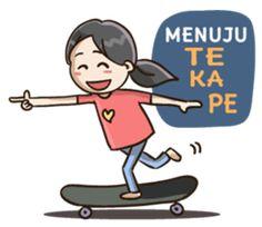 Ayo berbagi ceria bersama Pipit yang selalu hepi dan ceria di segala cuaca. sticker bahasa indonesia Emo Cartoons, Emoji People, Funny Couples, Picts, Jokes Quotes, Emoticon, Cute Stickers, Disney Characters, Fictional Characters