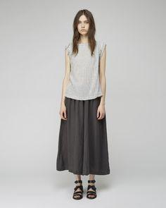 Black Crane Linen Culottes