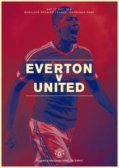 Match poster: Everton v Manchester United, 17 October 2015. Designed by @ManUtd