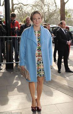 Pretty as a petal:Kellie Bright, who playsLinda Carter in EastEnders, looked cute in a f...