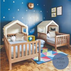 Mario and Frederico& room is a grace! Mom thought of every detail . - Mario and Frederico& room is a grace! Mom thought of every detail to make the atmosphere play - Baby Bedroom, Baby Boy Rooms, Nursery Room, Kids Bedroom Designs, Kids Room Design, Baby Room Furniture, Baby Room Decor, Bedroom Decor, Creative Kids Rooms