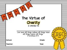 End of the Year Classroom Virtue Awards (Christian with Scripture Passages) Christian Virtues, Lamb Craft, Christian Classroom, School Grades, Teacher Name, Charity, Reflection, Awards, Student