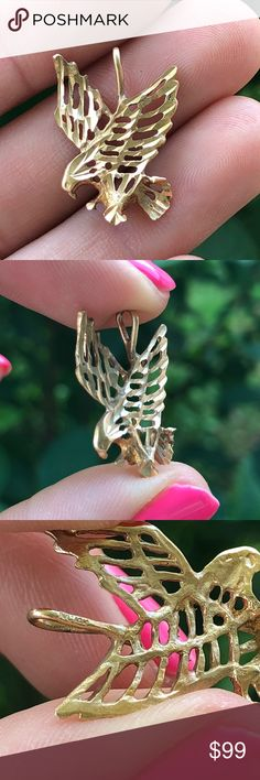 Charms for Bracelets and Necklaces 10k Yellow Gold Puffin Bird Charm