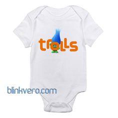 Trolls logo Awesome Funny Baby Onesie Boy or Girl
