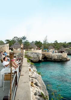 View from Push Cart Resturant (part of Rock House Hotel) in Negril, Jamaica.