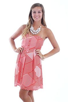 Carry On Strapless Dress, red $44 www.themintjulepboutique.com
