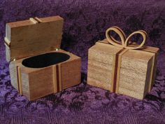 For a romantic or special somebody gift, it is a mahogany with yellow heart - blood wood ribbon box.