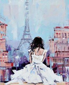 Eiffel Tower Painting - Paris
