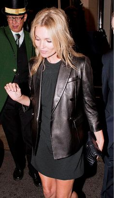Kate Moss wears a black jacket!