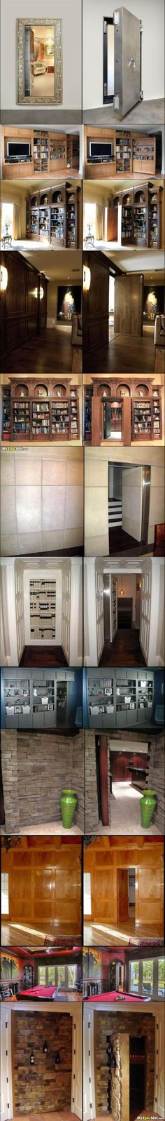 The secret room ~ i LOVE secret rooms or hiding spots. definitely going to have one in my house someday :D