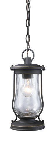 """View the Elk Lighting 43017/1 14"""" Height Country / Rustic Outdoor 1 Light Lantern Pendant with a Round Shade from the Farmstead Collection at LightingDirect.com."""