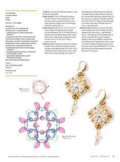 Incanto Earrings with Rivoli 12 mm and Piggy Beads - p2