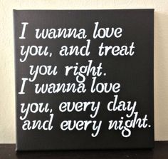 12x12 Quote on Canvas I Wanna Love You and by DreamLoveBoutique, $30.00