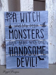 A personal favorite from my Etsy shop https://www.etsy.com/listing/250604966/a-witch-and-her-little-monsters-live