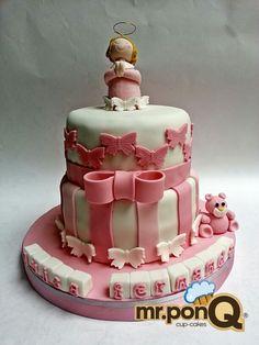 Mr.ponQ cup-cakes torta para bautizo