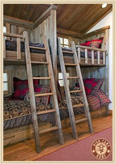 Timber bunk beds