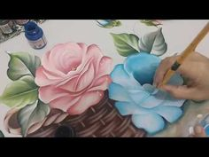 Discover recipes, home ideas, style inspiration and other ideas to try. Acrylic Painting Flowers, One Stroke Painting, Acrylic Painting Techniques, Painting Videos, Painting Lessons, Love Painting, Fabric Painting, Watercolor Flowers, Watercolor Paintings