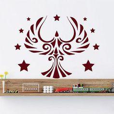 Wall Decals Eagle Bird Predator Decal Nursery Room Vinyl Decor Star Mural MR419
