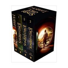 The Hobbit and The Lord of the Rings (Box Set of Four Paperbacks) ($18) ❤ liked on Polyvore featuring books