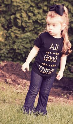 All Good Things Tee (Toddler) – Rose Gold Vintage