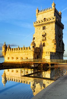 Torre famosa de Belem, Lisboa, Portugal