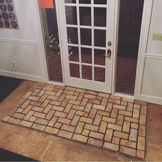 5 DIY Reclaimed Brick Tile Projects to Transform Your Home - www.vintagebricks.com  vintage reclaimed brick tiles front door entry
