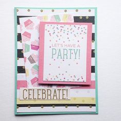 Keeping it simple, fun, and fabulous.  Love this invite!   Card 2 using the Confetti pack by #dcwv  #cardmaking #handmade #handmadecards #paper #papercrafts #paperpack #confetti #cupcakes #celebrate#party#greetingcards #crafting #dcwvinc #DCWVmaker