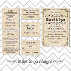 SUMMER SALE - DIY Printable Wedding Invitation: Rustic- The Kendell