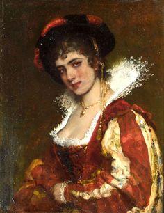 Portrait of a Venetian Lady,   Eugene de Blaas