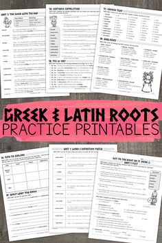 Over 250 pages of Greek and Latin root word work and activities for grades 5-8. Assessments, game cards, and word walls are also included!