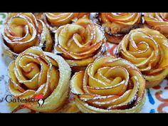 Reteta de Rulouri cu Mere in forma de Trandafiri - YouTube Pastry And Bakery, Cakes, Videos, Desserts, Food, Patterns, Tailgate Desserts, Deserts, Cake Makers