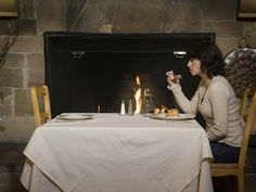 Image result for lonely dinner